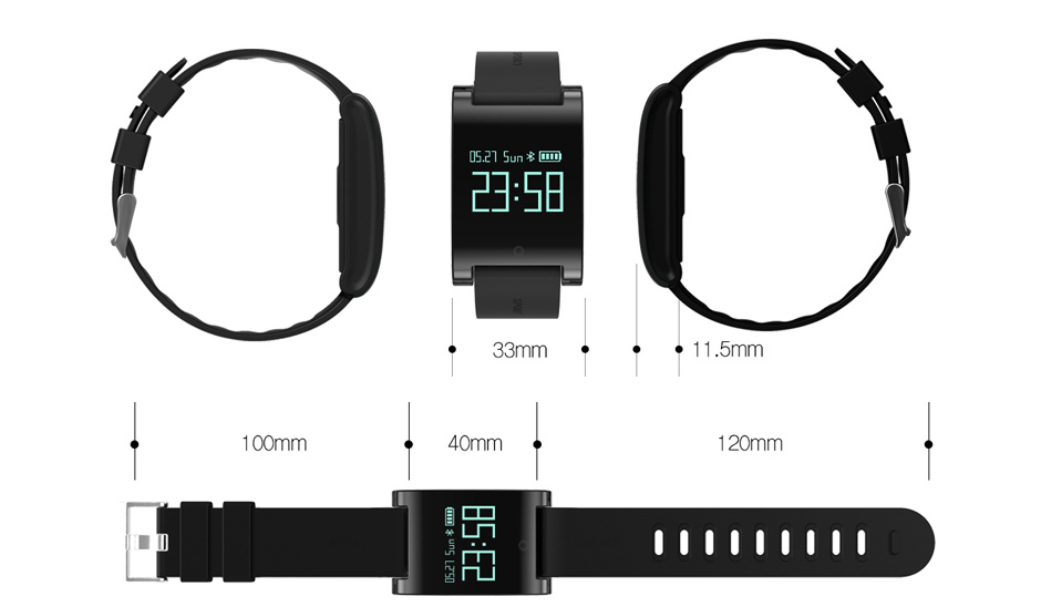 smart bracelet heart rate and blood pressure smart band
