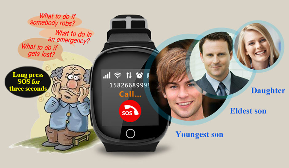 elder gps tracker smart watch phone