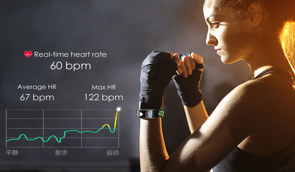heart rate monitor smart bracelet fitness tracker 2